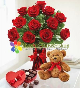 Hanoi valentine flowers delivery