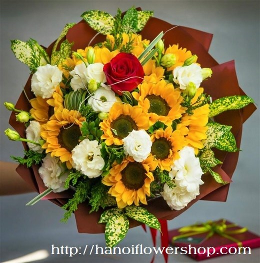 Bouquet of sunflowers in Hanoi