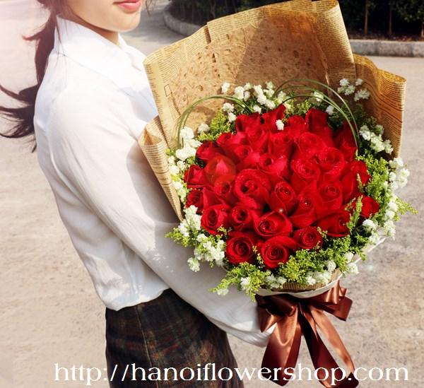 Birthday flower bouquet Hanoi