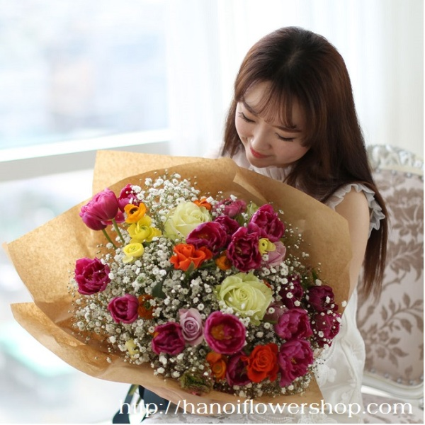 Romantic flowers for Valentines day